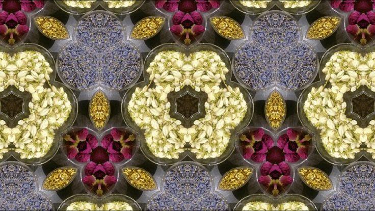 Tea flower collage