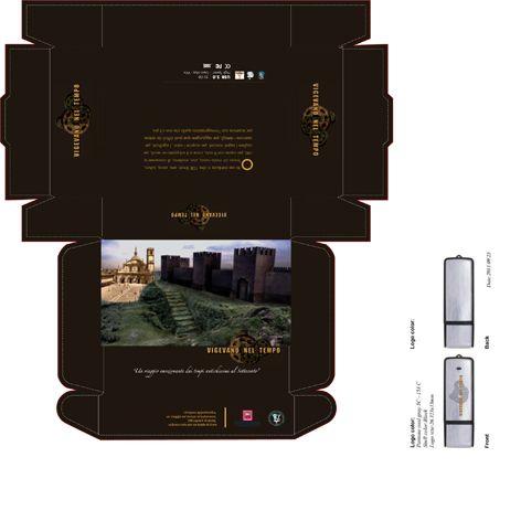 Progetto Vigevano nel Tempo - confezione - pen drive - opuscolo