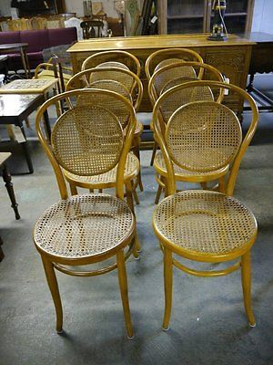 6 antique thonet style dining room chairs great lines ebay