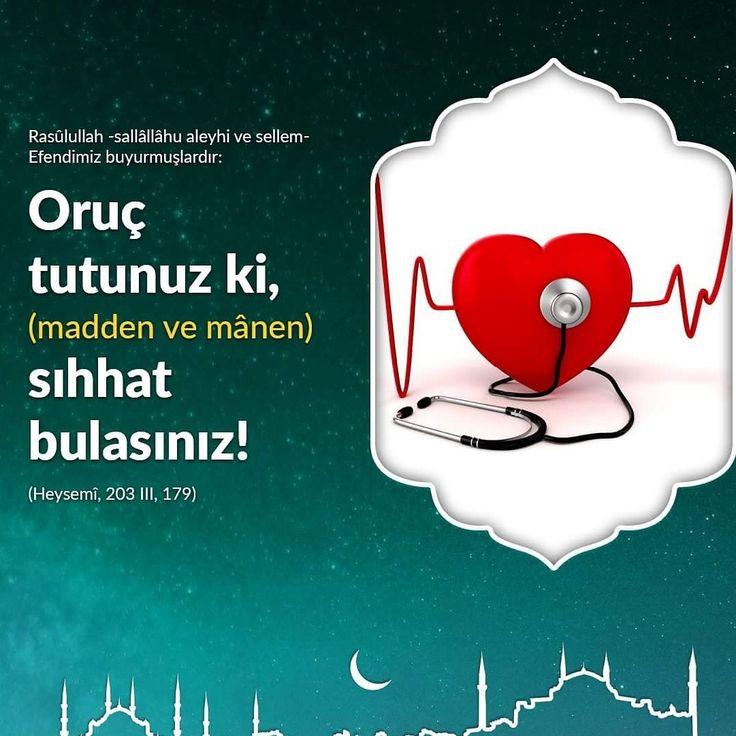 ❤Oruç tut, sıhhat bul!  #oruç #sağlık #sıhhat #afiyet #maddi #manevi #islam #müslüman #hadisler #ilmisuffa