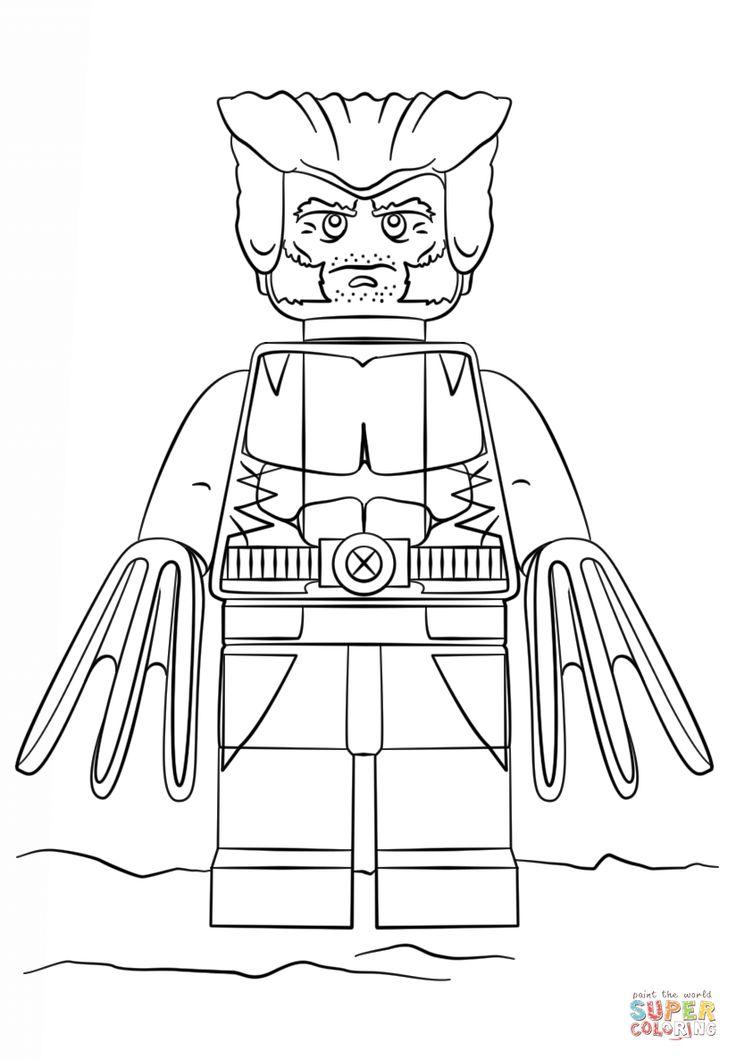 afbeeldingsresultaat voor lego wolverine kleurplaat met