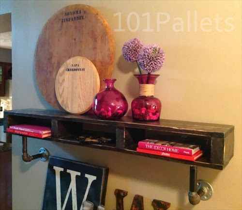 DIY Wooden Pallet Pipe Shelf | Pallet Furniture Plans