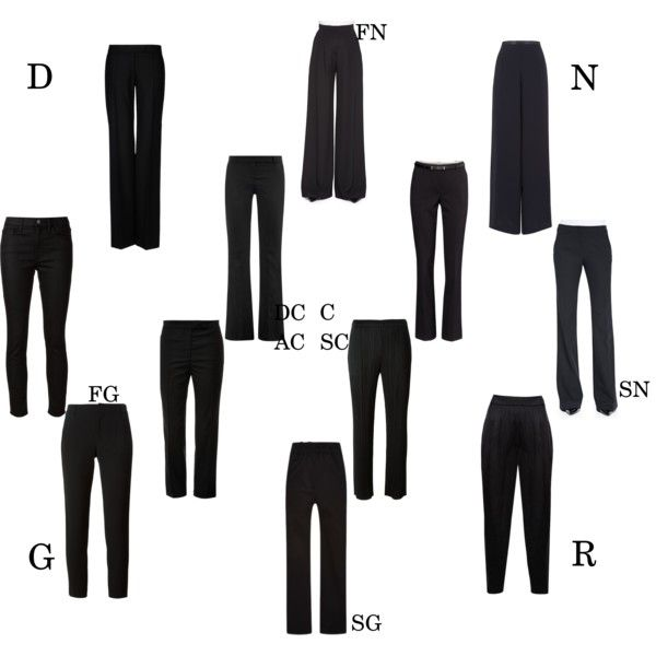 Essential black pants by kibbe type by moara on Polyvore featuring polyvore, fashion, style, Carolina Herrera, Alexander McQueen, Thom Browne, Jason Wu, Philosophy di Lorenzo Serafini, STELLA McCARTNEY, Crippen, Vince, Pleats Please by Issey Miyake, Alice + Olivia, Jacques Vert and H&M