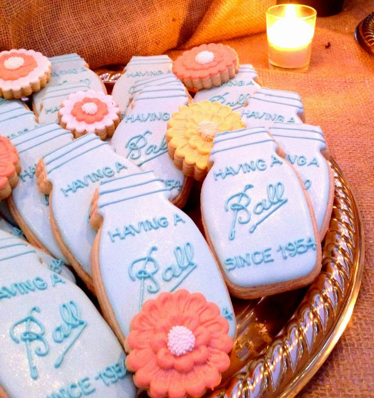 Love this ball jar cookie idea for birthdays