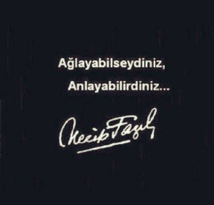 Etmeyin Reis bey! Siz ağlayamazsınız! Ağlayabilseydiniz anlayabilirdiniz…