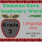 WOW!  I never thought I'd get this project done!  Included are 140+ vocabulary cards for language arts (ELA- Common Core) for grade 2.  I'm sure ma...