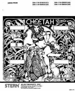 CHEETAH (Stern) Manual - DOC1128 - Marco Pinball Parts