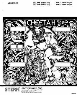 CHEETAH (Stern) Manual - DOC1128 - Marco Pinball Parts