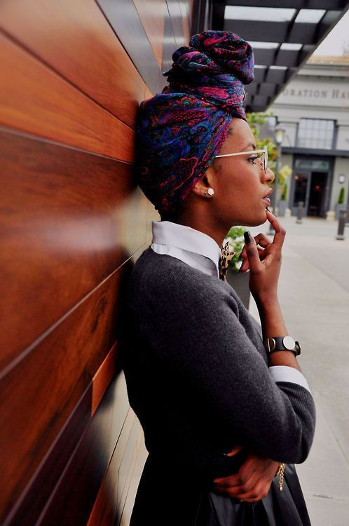 natural hair with the scarf like andra day - Google Search