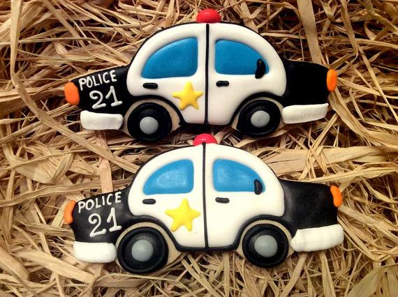 Police car cookies Police party theme by SugaryCharm on Etsy