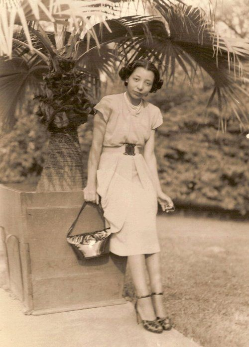 Nancy Green, during a visit to Detroit to see her sister and brother-in-law. She says it was taken sometime in the late 1940s in a park.