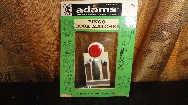 Mid Century 1958 Gag Gift Jokester Adams Bingo Book Matches In Its Original Packaging by TimsSecretTreasures on Etsy
