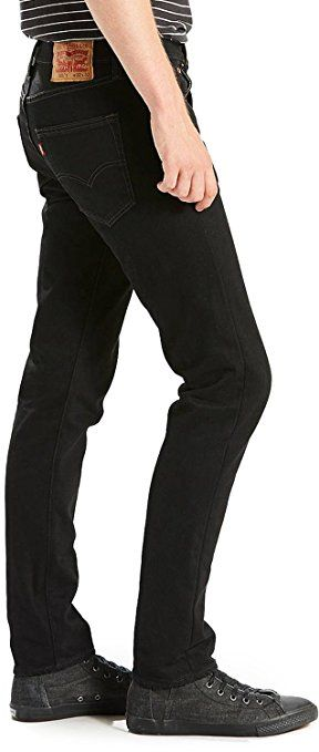 Levi's Men's 501 Skinny Fit Black Punk Jeans, Black: Amazon.co.uk: Clothing