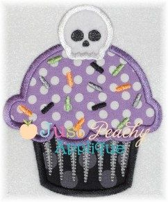 Halloween+Skull+Cupcake+Machine+Embroidery+by+JustPeachyApplique,+$4.00