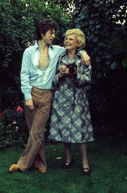 Мик Джаггер и Лени Рифеншталь, 1974