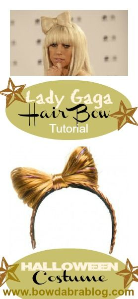 lady gaga hair bow costume