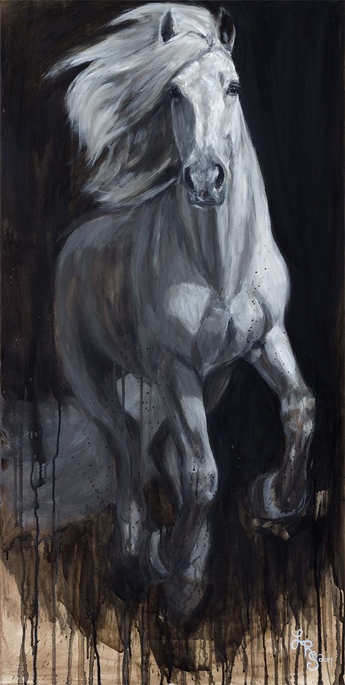 Andalusian II, acrylic on canvas, Lydia Rose Spencer, Lydia Rose Fine Art #lydiarosefineart #lydiarosespencer