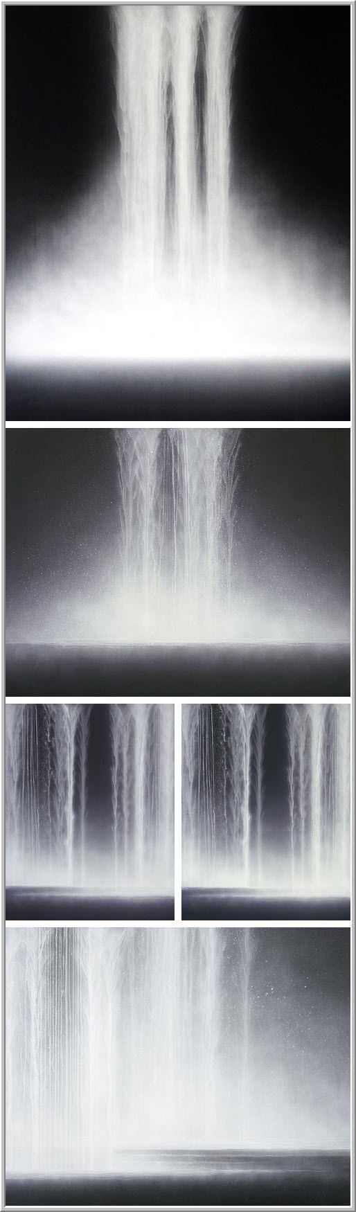 Hiroshi Senju - Waterfalls, 2009    Natural pigments on Japanese mulberry paper