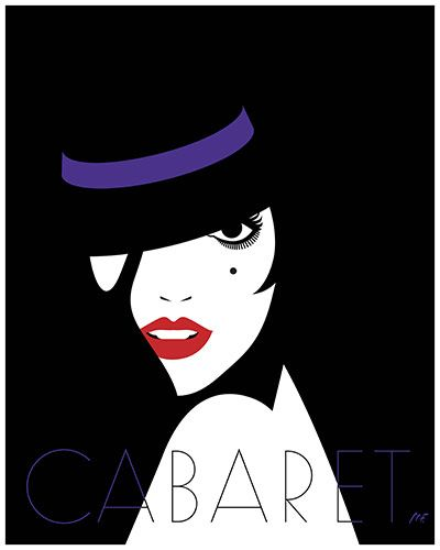 Reimagined 1970s movie posters - Cabaret (1972), by Malika Favre