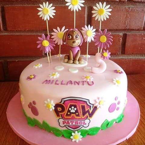#Sky #PawPatrol #fondant #cake by Volován Productos  #instacake #Chile #puq #VolovanProductos #Cakes #Cakestagram #SweetCake