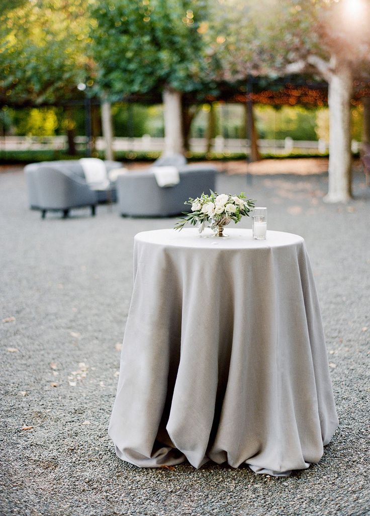 Marvelous High Top Table Linens Part - 14: See How A Fall Garden Wedding Is Perfectly Done