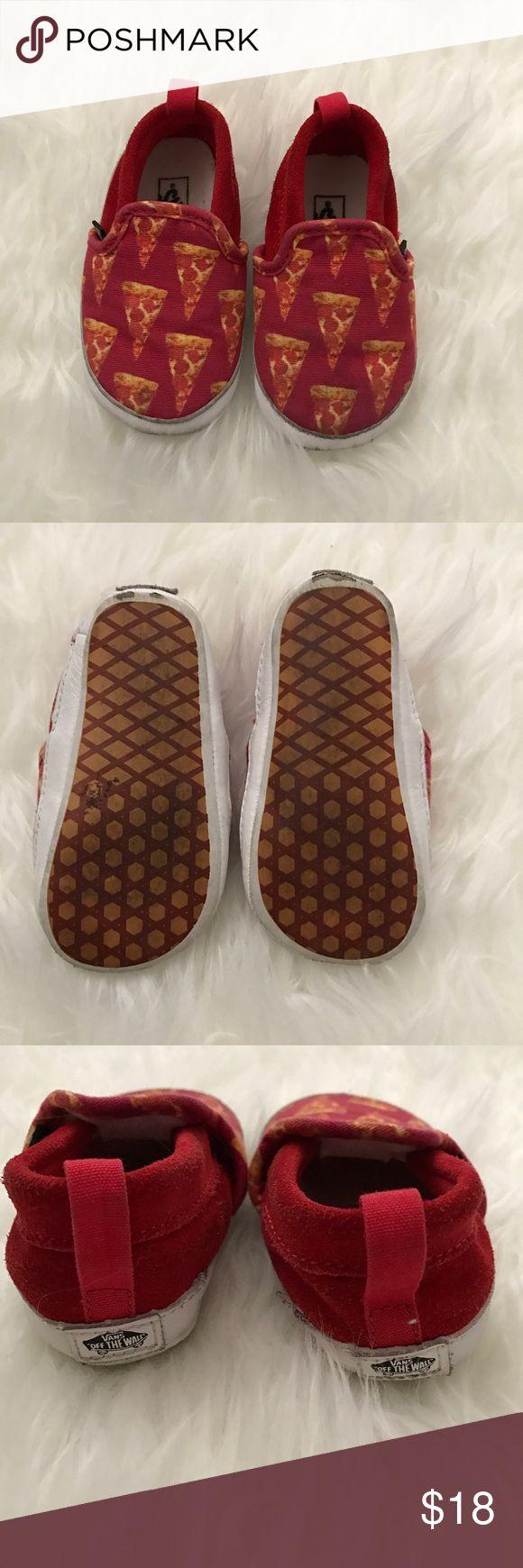 Pizza print Vans Worn a couple times Vans Shoes Sneakers