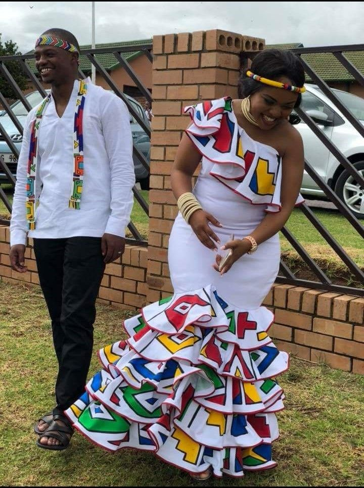 Ndebele inspired wedding dress #colour