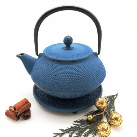 Tokyo cast iron tea pot with infuser blue nice places and tea pots - Japanese teapot with infuser ...
