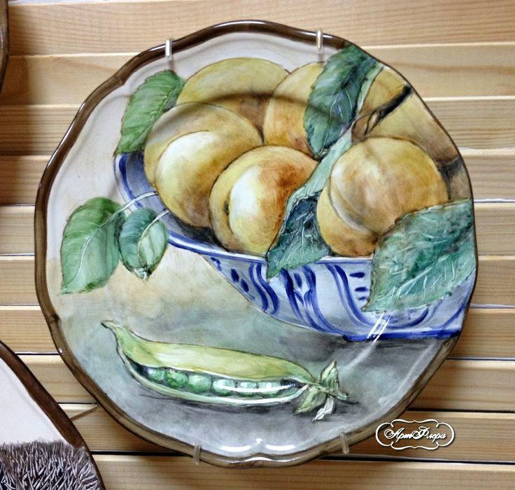 Персики в блюде 28 см