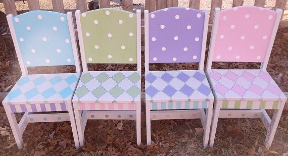 Custom Wooden Childrens Chairs Your choice mix and match choice of one per this listing Kids Furniture and Decor