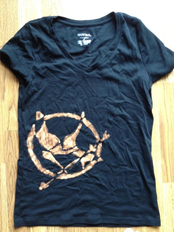 My Hunger Games tee I made for the premier! Bleach pen and black tee. |  http://bit.ly/GJRtnl  outfits and accessories