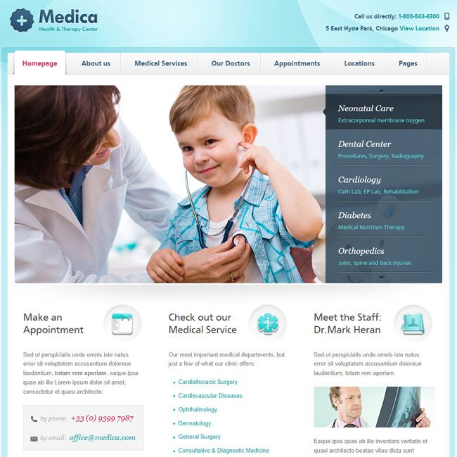 WordPress Health Club Web Site Designers