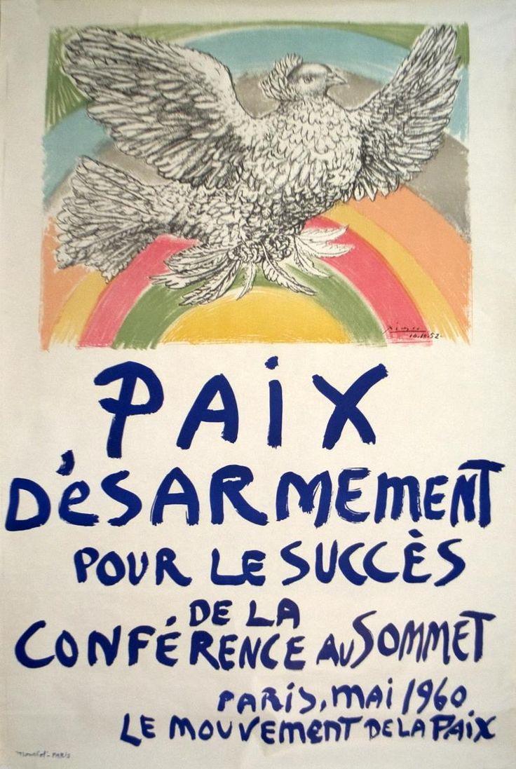 1960 Picasso Paix Disarmement-Peace Mourlot Lithograph