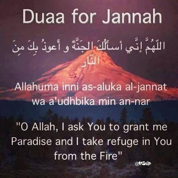 Dua for Jannah!   #Dua #Jannah #Islam