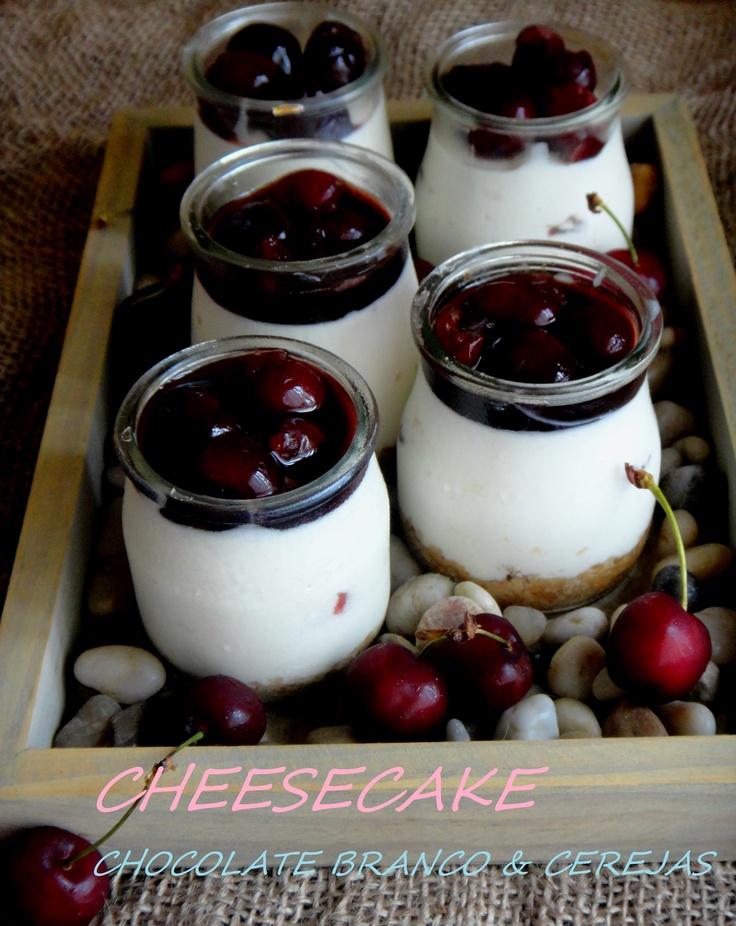 cheesecake de cerejas
