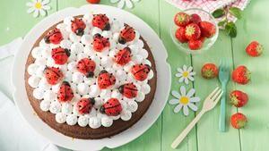 Clever! Ladybugs from strawberrys'