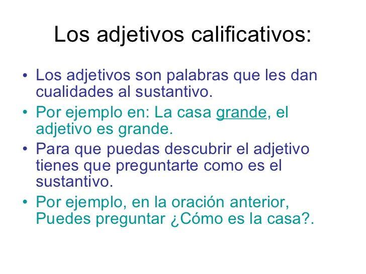 50 ORACIONES CON ADJETIVOS CALIFICATIVOS