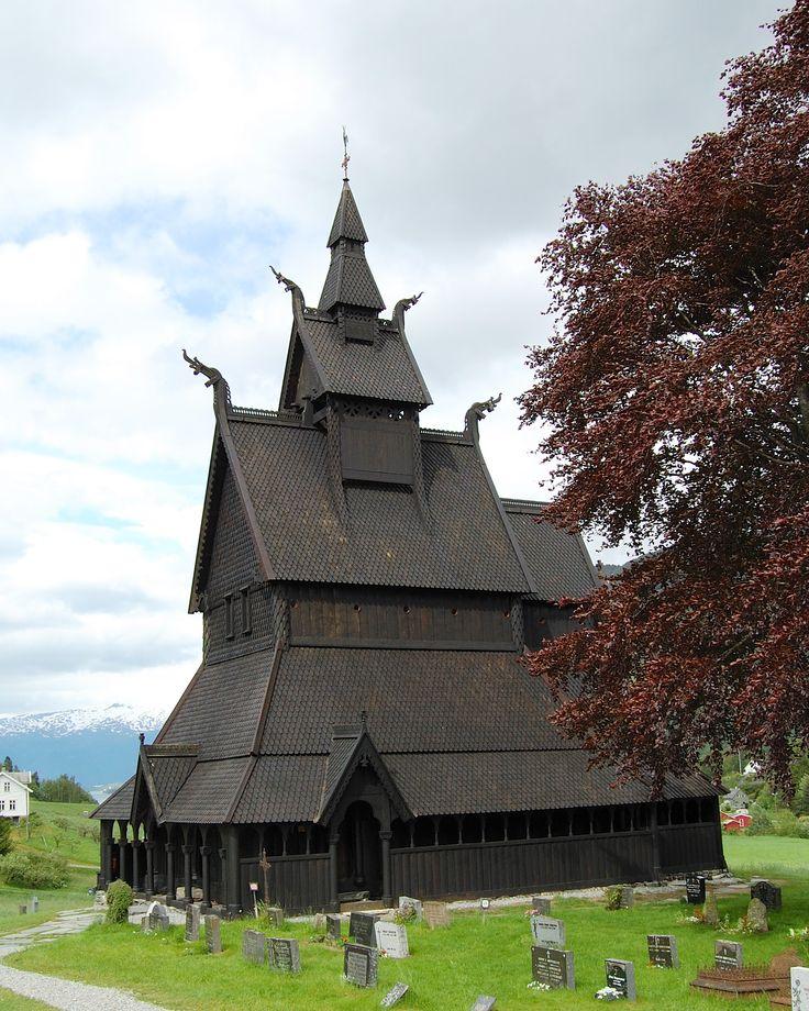 Stabkirche Hopperstad in der Gemeinde Vik im Fylke Sogn og Fjordane/Norwegen