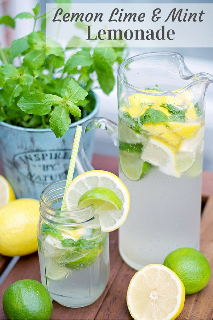 Delicious, low-calories Lemon Lime And Mint Lemonade Recipe! Perfect when entertaining guests!
