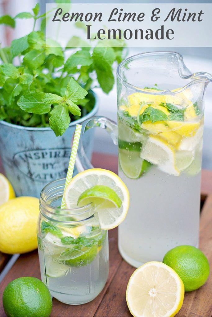 Delicious, low-calories Lemon Lime And Mint Lemonade Recipe! Perfect when entertaining guests!