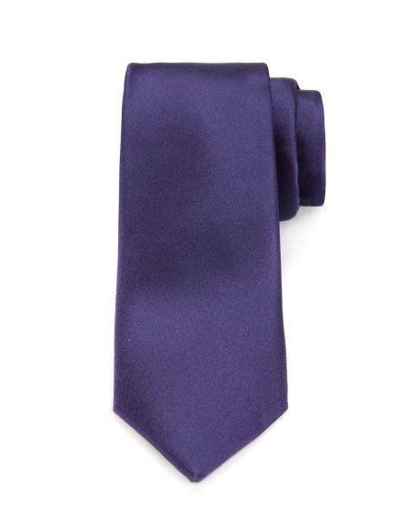 Classic satin skinny tie - Purple | Ties & Bow Ties | Ted Baker UK