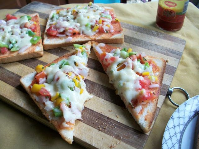 YUMMY TUMMY: Vegetable Bread Pizza - Two Ways ( Oven & Stove -Top ) - Kids Special Recipes under 30 mins