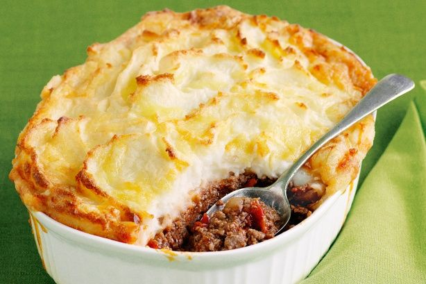 ... homemade cottage cheese cottage pie with shallots and sherry