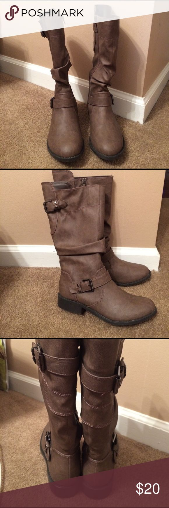 Girls Boots Brand new. Never worn. Girls brown boots. Size 4 by Cupcake Couture. Cupcake Couture Shoes Boots