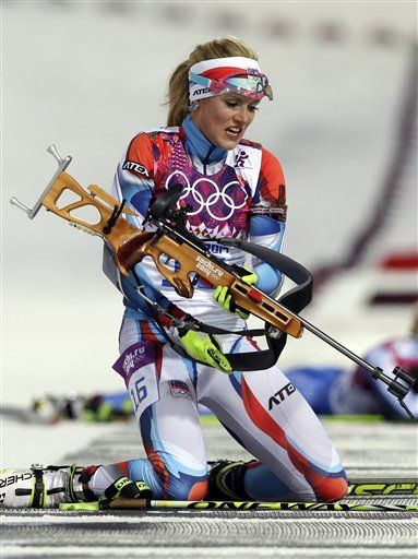 Gabriela Soukalova: b. 1989; Soukalova is a biathlon athlete from the Czech Republic.  She won 2 silver medals in Sochi: one for Women 12.5 Kilometer Mass Start and one for Mixed 2x6+2x7.5 Kilometer Relay.