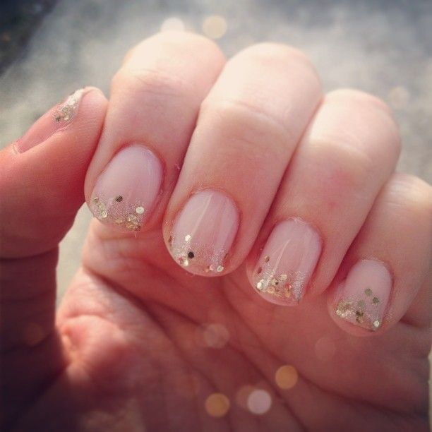 easy simple pretty glitter tips nail design - Nail Designs Do It Yourself At Home