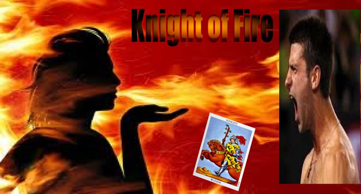 #Novak #Djokovic captures the fun, exciting and competitive nature of #Knight #of #Wands better than anyone else I can think of. There is never a dull moment when a Knight of Wands person is around. They are entertaining, driven and very ambitious.