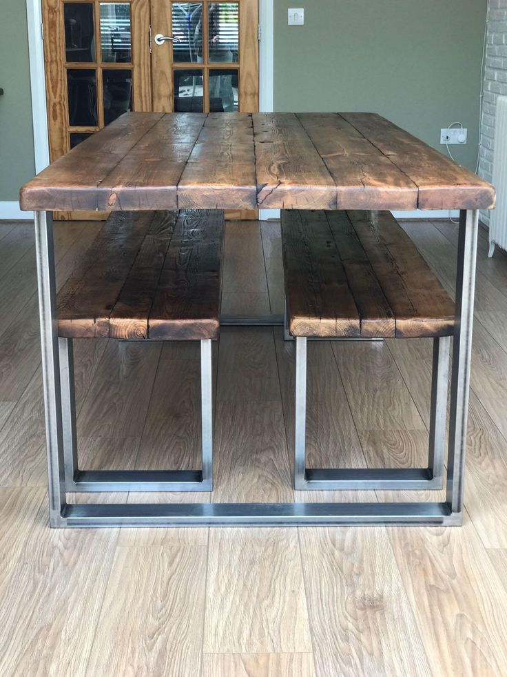 Reclaimed wood scaffold - rustic joists chunky dining table - industrial - unique furniture - vintage style by NottyReclaimed on Etsy https://www.etsy.com/uk/listing/559600757/reclaimed-wood-scaffold-rustic-joists
