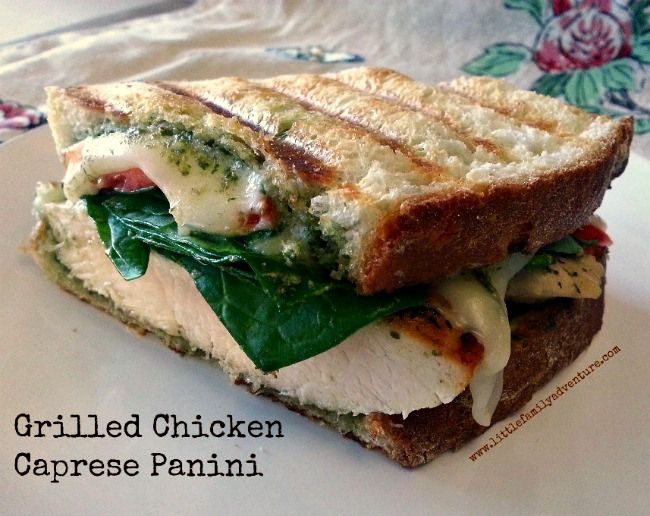 Grilled Chicken Caprese Panini | Recipe