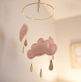 Soft as a cloud homemade baby crib mobile